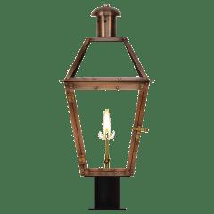 """Georgetown 22"""" Post Lantern in Antique Copper, Gas"""