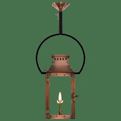 """Market Street 16"""" Yoke Ceiling Lantern in Antique Copper, Gas"""