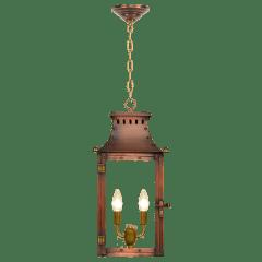 "Market Street 21"" Chain Mount Ceiling Lantern in Antique Copper, Electric"