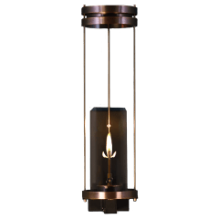 """Paradise Bay 30"""" Wall Lantern in Antique Copper, Gas"""