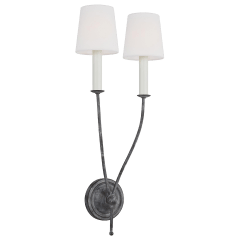 Richmond Double Sconce Weathered Galvanized