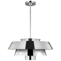Brisbin Large Pendant Polished Nickel