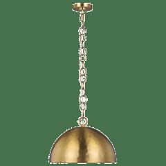 Whare Medium Pendant Burnished Brass
