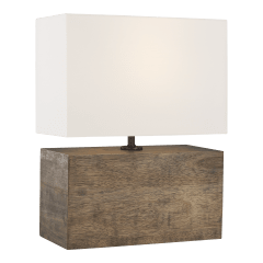 Redmond Table Lamp Weathered Oak Wood Bulbs Inc