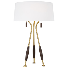 Arbur Table Lamp Burnished Brass Bulbs Inc