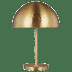 Whare Table Lamp Burnished Brass Bulbs Inc