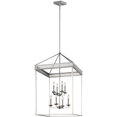 Woodruff Large Lantern Polished Nickel