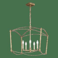 Thayer Wide Lantern Antique Gild