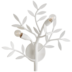 Mandeville Sconce in Plaster White