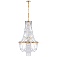 Navona Medium Basket Chandelier in Gild with Crystal