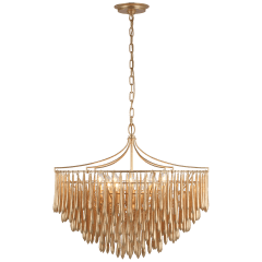 Vacarro Medium Chandelier in Antique Gold Leaf