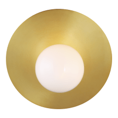 Nodes Large Angled Sconce Burnished Brass