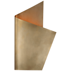 Piel Right Wrapped Sconce in Antique-Burnished Brass