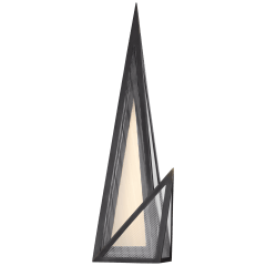 Ori Sconce in Bronze with Clear Lined Glass