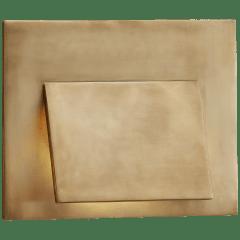 Esker Envelope Sconce in Antique-Burnished Brass