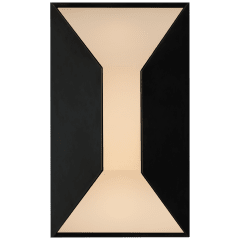 Stretto Small Sconce in Bronze with Frosted Glass