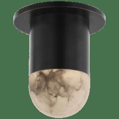 Melange Mini Monopoint Flush Mount in Bronze with Alabaster