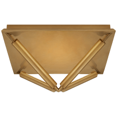 Appareil Large Flush Mount in Antique-Burnished Brass