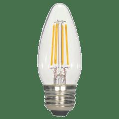 4.5W B11 Clear LED Dimmable E26 470lms 2700k 120V Medium Base