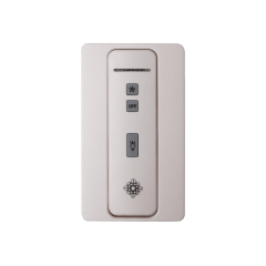 Hand-held 4-speed remote control,TRANSMITTER ONLY. Fan speed and downlight control. (non-reversing) White