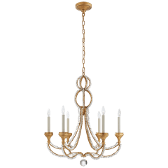 Milan Medium Chandelier in Venetian Gold with Crystal