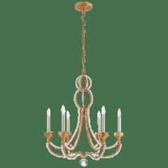 Milan Medium Chandelier in Venetian Gold with Crystal