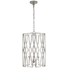 Brittany Medium Lantern in Venetian Silver