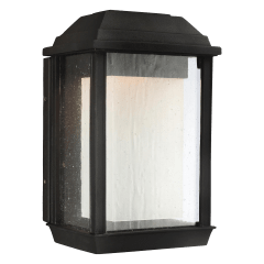 McHenry Small LED Lantern Textured Black Bulbs Inc