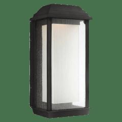 McHenry Large LED Lantern Textured Black Bulbs Inc