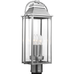 Wellsworth Post Lantern Painted Brushed Steel