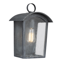 Hodges Medium Outdoor Wall Lantern Ash Black