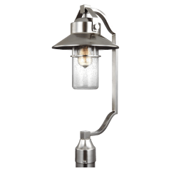 Boynton Large Post Lantern Painted Brushed Steel