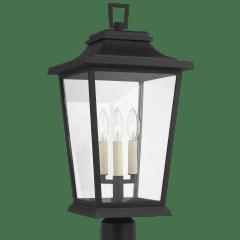 Warren Post Lantern Textured Black
