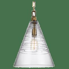 Elmore Cone Pendant Burnished Brass