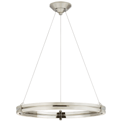 """Paxton 24"""" Ring Chandelier in Polished Nickel"""