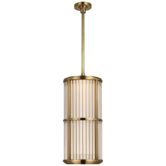 """Perren 10"""" Pendant in Natural Brass and Glass Rods"""