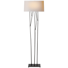 Aspen Floor Lamp in Black Rust with Natural Paper Shade