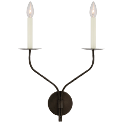 Belfair Large Double Sconce in Aged Iron