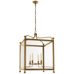 Greggory Large Lantern in Hand-Rubbed Antique Brass