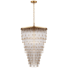 Mia Large Chandelier in Clear Glass