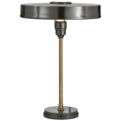Carlo Table Lamp in Bronze and Hand-Rubbed Antique Brass