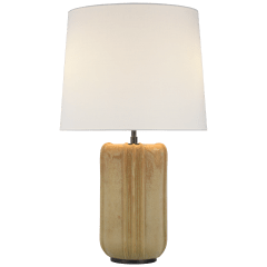 Minx Large Table Lamp in Yellow Oxide with Linen Shade