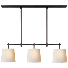 Bryant Small Billiard in Bronze with Natural Paper Shades