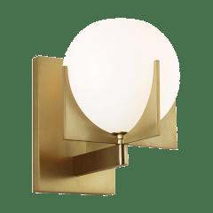Abbott 1 - Light Sconce Burnished Brass