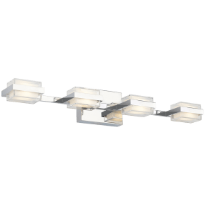 Kamden 4-Light Bath chrome 3000K 90 CRI led 90 cri 3000k 120v