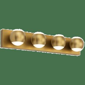 Oko 4-Light Bath 4 Light  aged brass 3000K 90 CRI led 90 cri 3000k 120v