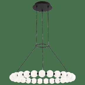 Orbet 30 Chandelier Nightshade Black 2700K 90 CRI Integrated LED 90 cri 2700k 120v-277v unv