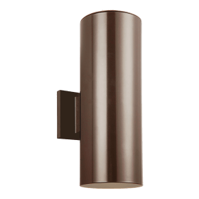Outdoor Cylinders Small Two Light Outdoor Wall Lantern Bronze Bulbs Inc