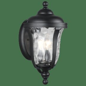 Perrywood Medium Three Light Outdoor Wall Lantern Black