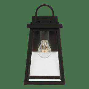 Founders Medium One Light Outdoor Wall Lantern Black